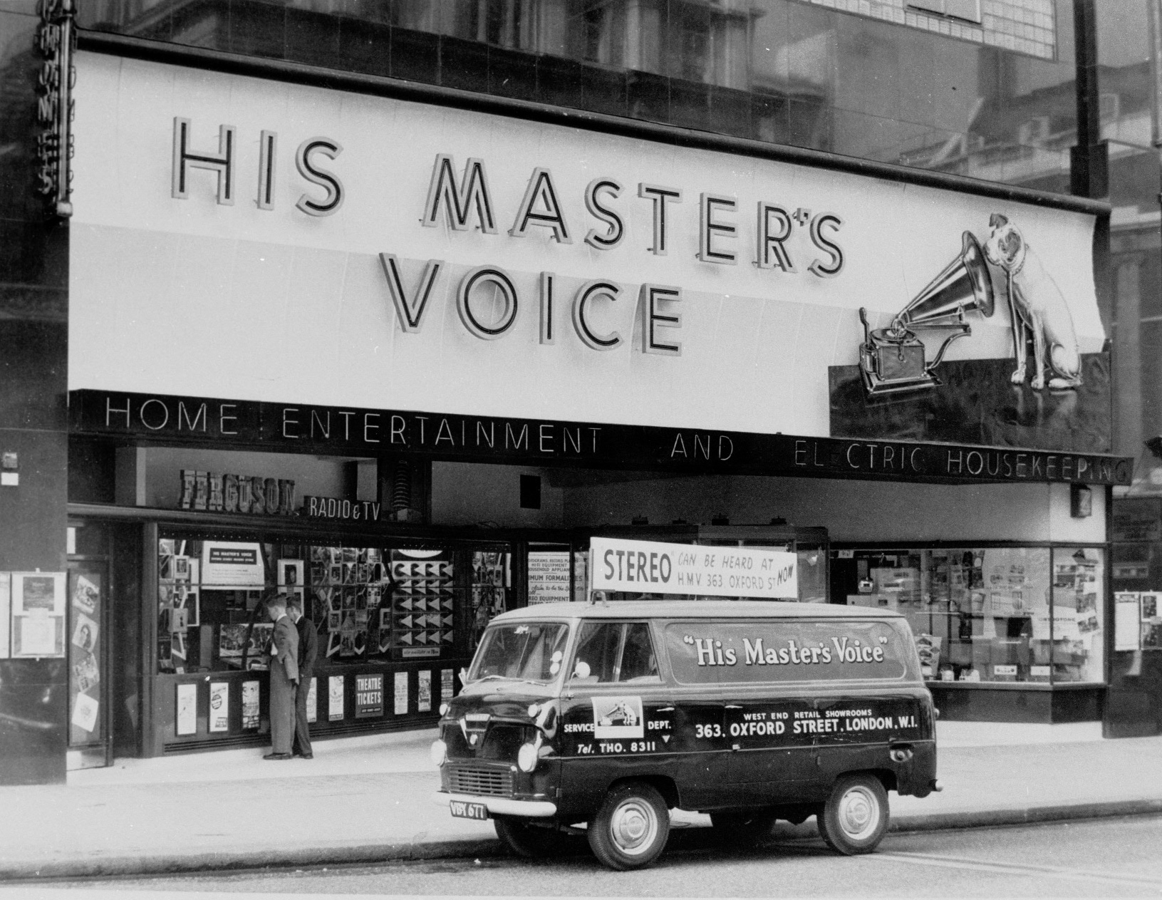 HMV flagship store front when the store first opened.