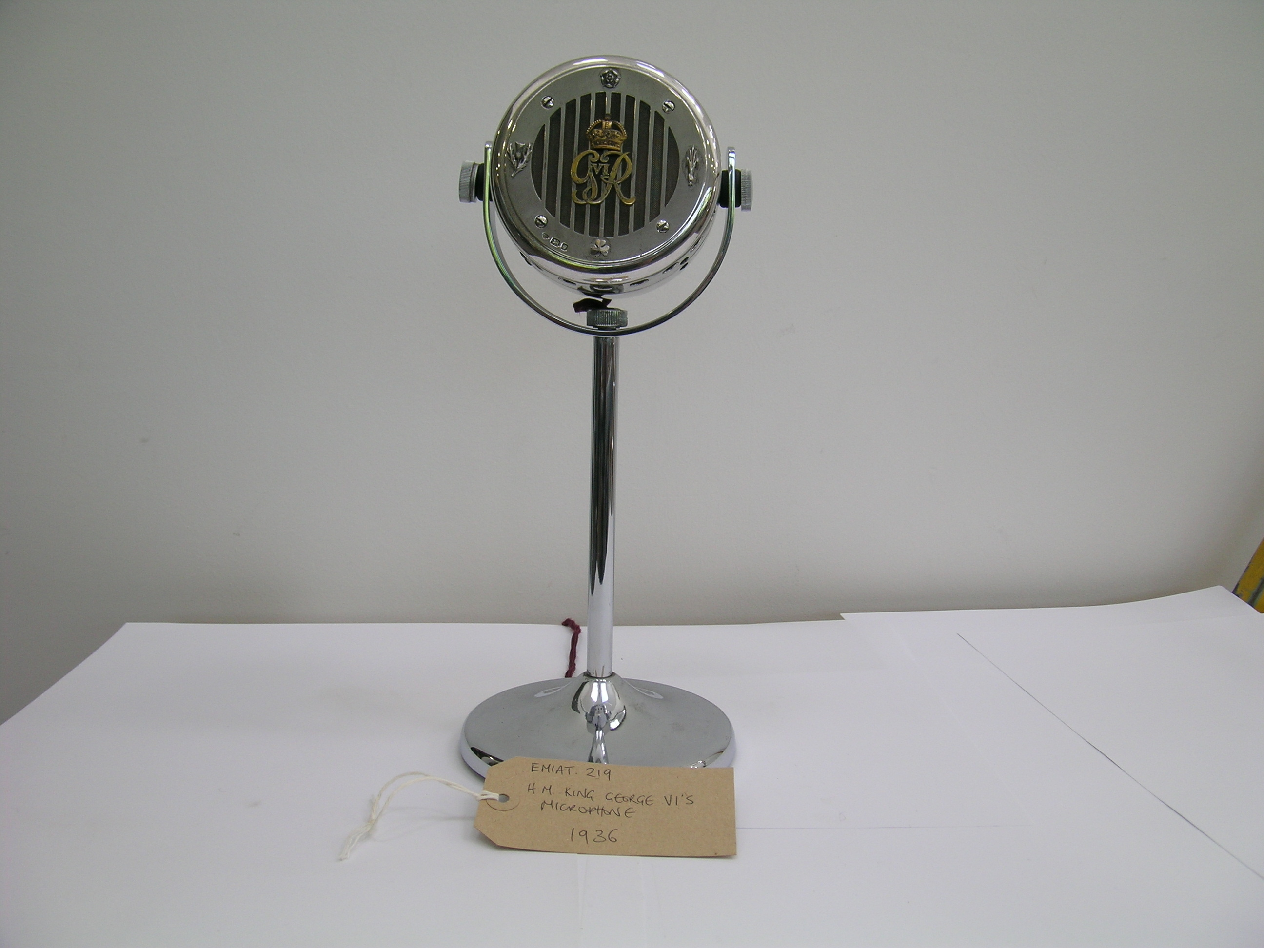 King George VI Microphone - part of the EMI Archive Trust Collection