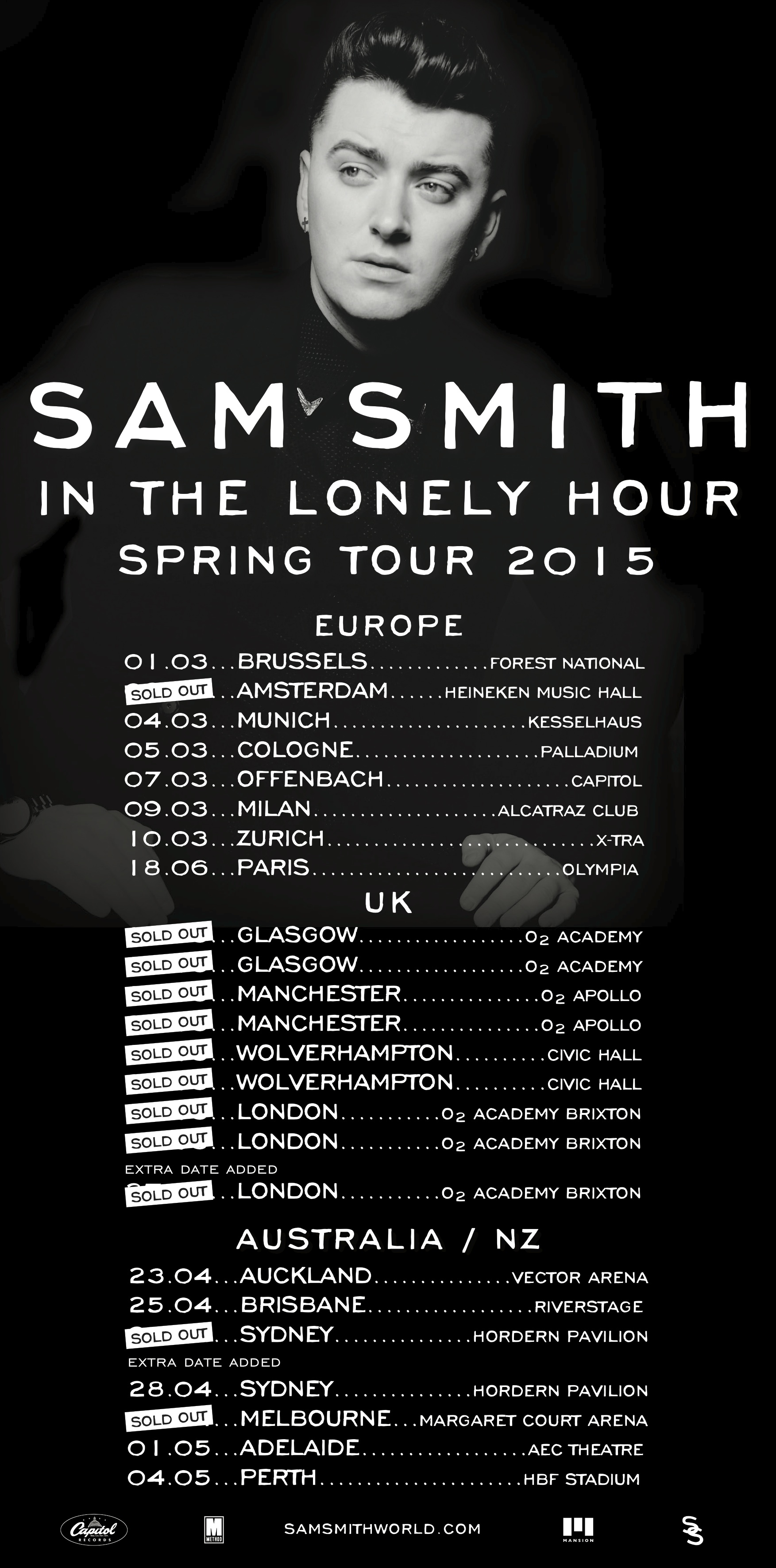 Sam Smith | There's still a couple of date still on sale ...