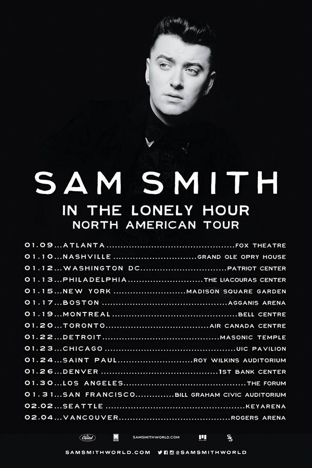 Sam Smith Tour Dates Usa