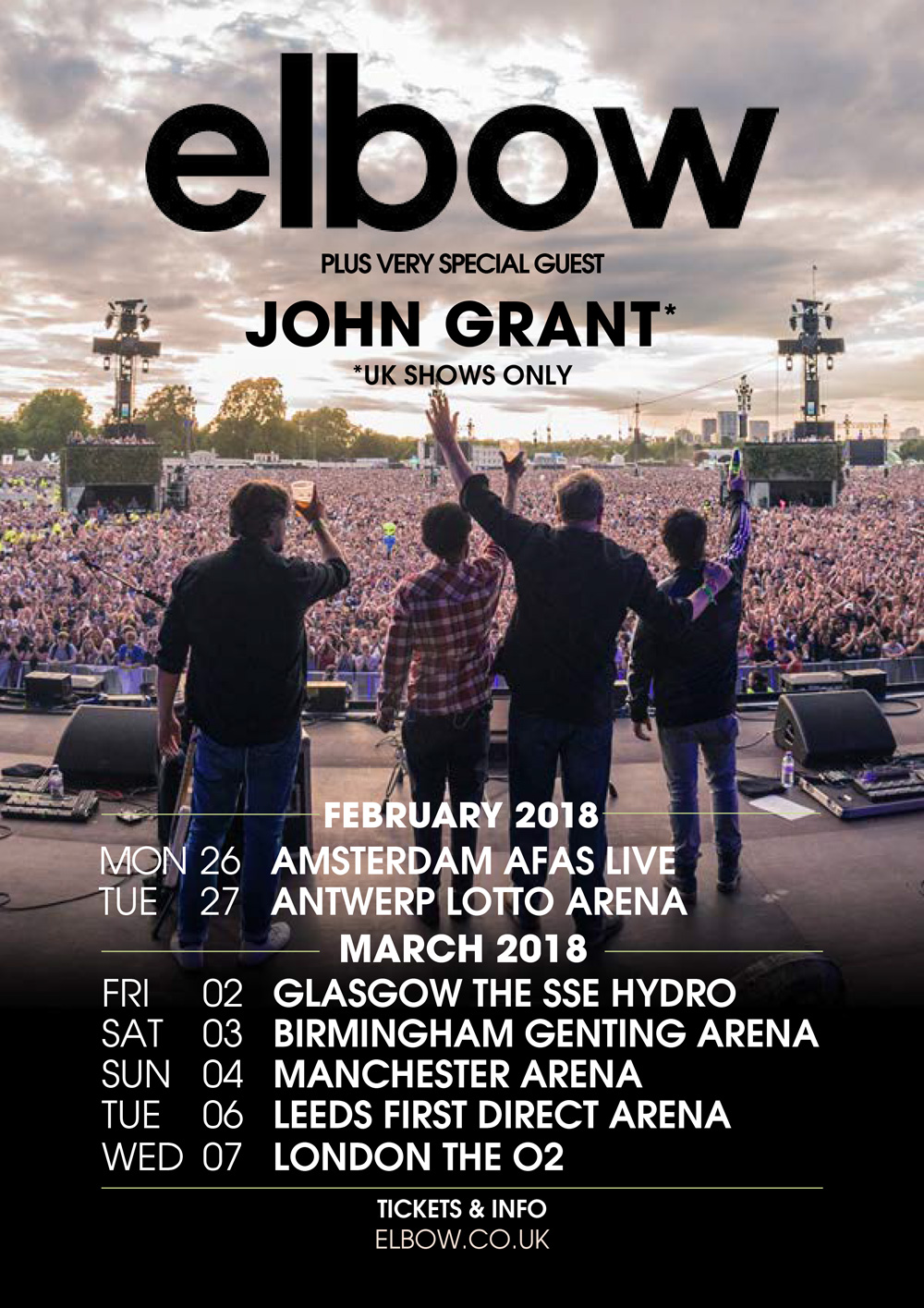 Image result for elbow glasgow 2018