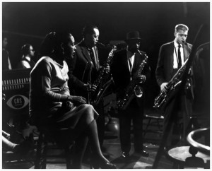 collection-f-driggs-22the-sounds-of-jazz22-cbs-tv-broadcast-december-1957-ltor-billie-holiday-lester-young-saxophone-coleman-hawkins-saxophone-gerry-mulligan-saxophone