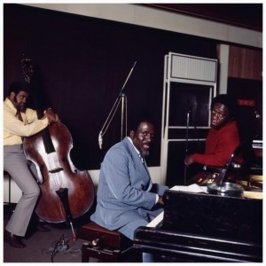 Photo of Thelonious MONK and Art BLAKEY and Al McKIBBON