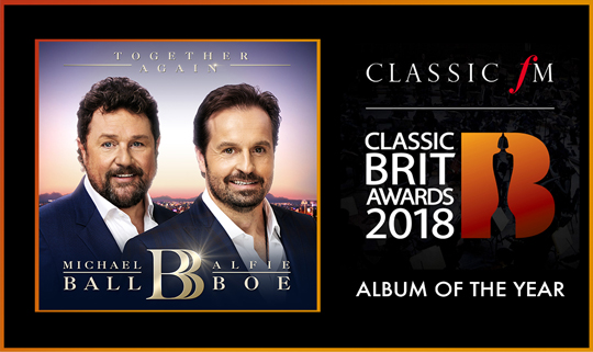 'Together Again' in with a chance to win Album Of The Year at the Classic Brit Awards! Vote Now!
