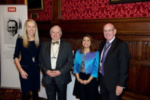 Caryn Tomlinson (Chair, EMI Archive Trust, SVP Global Communications, UMG); Simon Blumlein; Tulip Siddiq (MP, Hampstead and Kilburn); Charles, Lord Allen of Kensington)