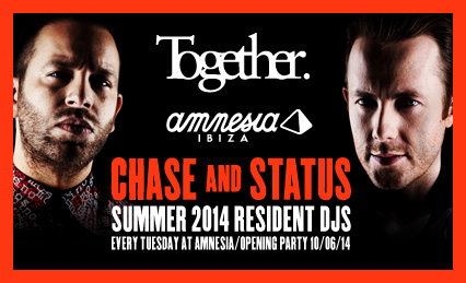 Together at Amnesia – Weekly Residency