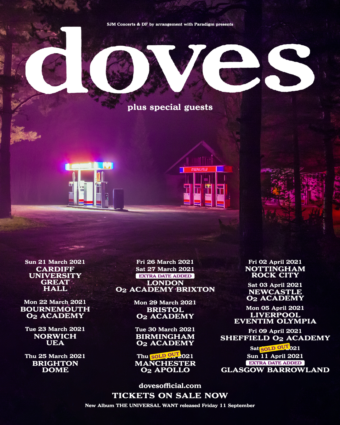 Image for article: UK 2021 UK TOUR EXTRA DATES ADDED