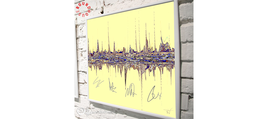 ONE DAY LIKE THIS' SOUNDWAVES ARTWORK IN SUPPORT OF THE