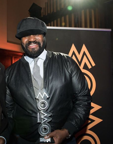 GREGORY PORTER PRESENTED WITH MOBO OUTSTANDING CONTRIBUTION TO MUSIC AWARD