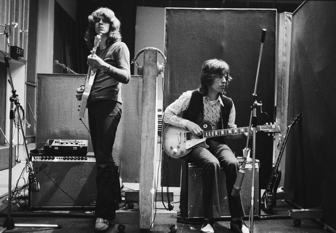 Mick Taylor, Mick Jagger OLYMPIC Studios. Photo: Ethan Russell