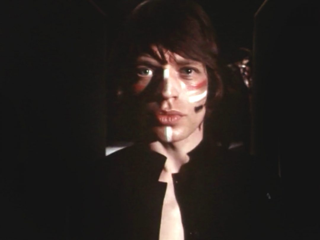 Mick Jagger with makeup