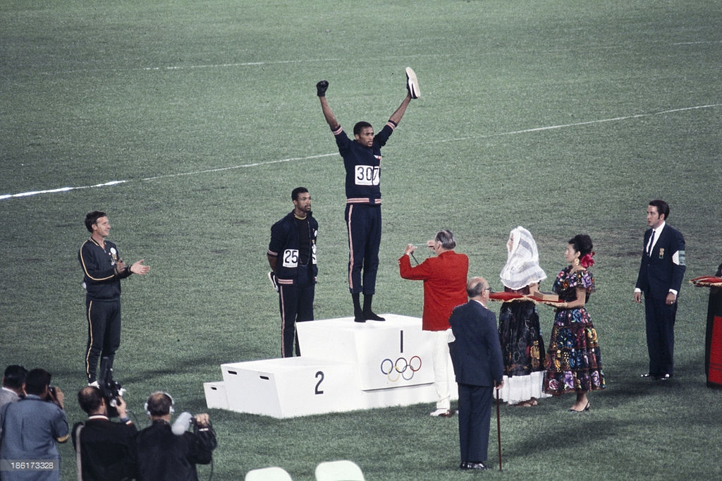 Peter Norman, John Carlos and Tommy Smith