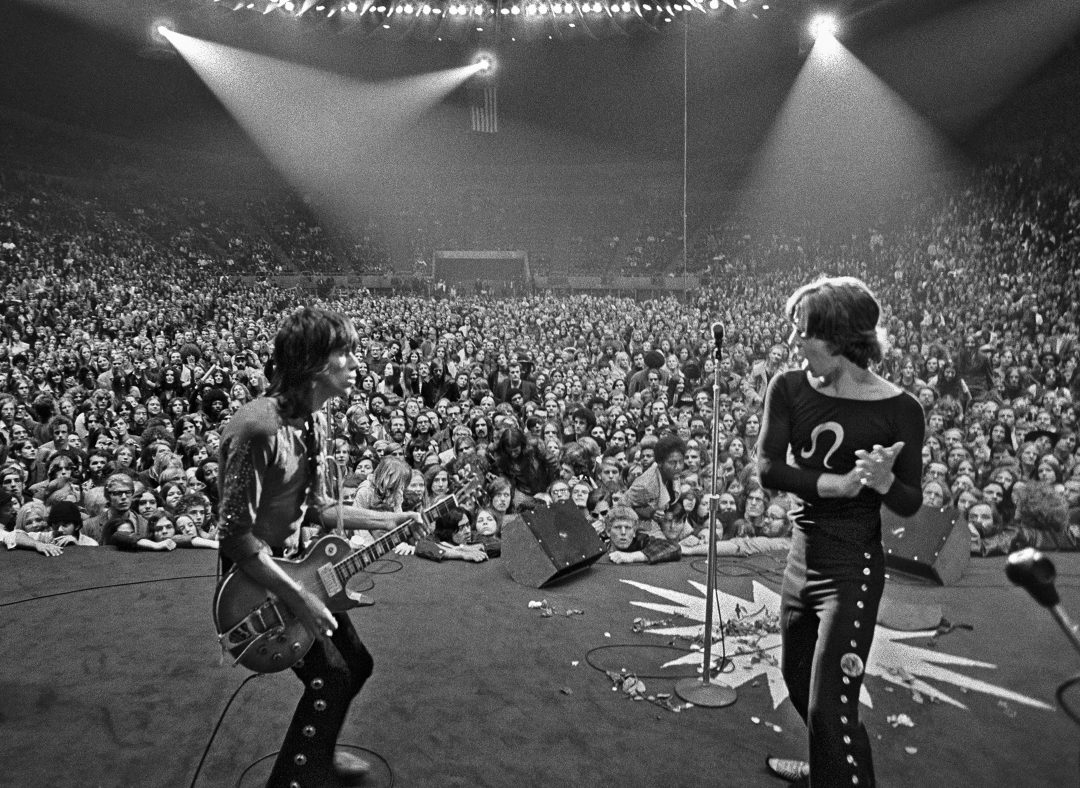B&W PHOTO PEOPLE ON STAGE perform at Madison Square Garden, New York