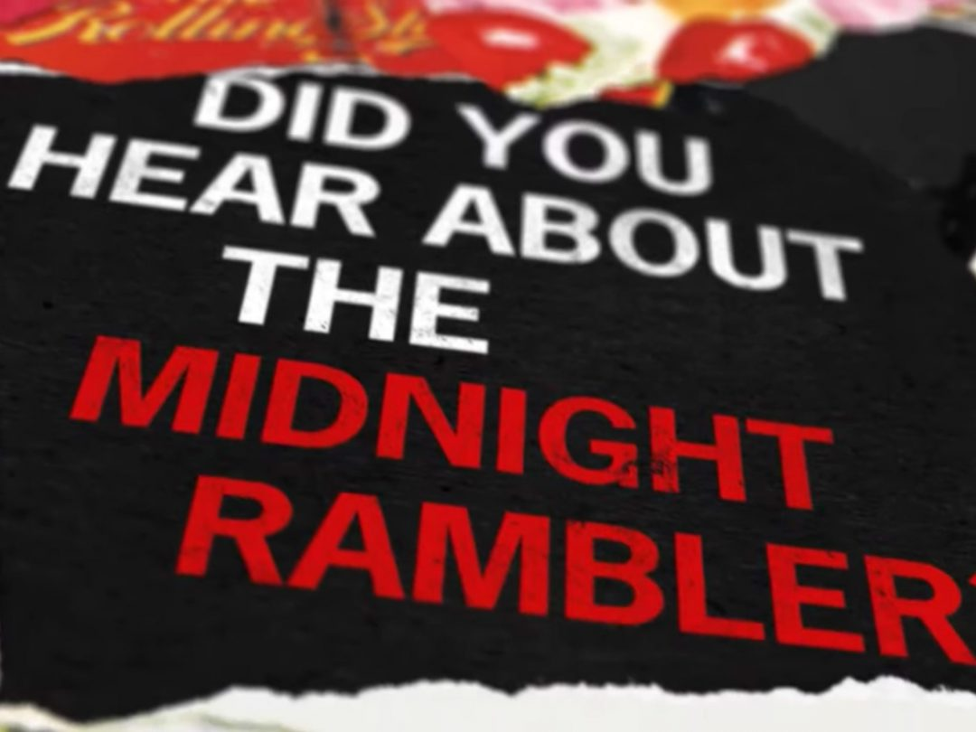 Still image from the lyric video for Midnight Rambler