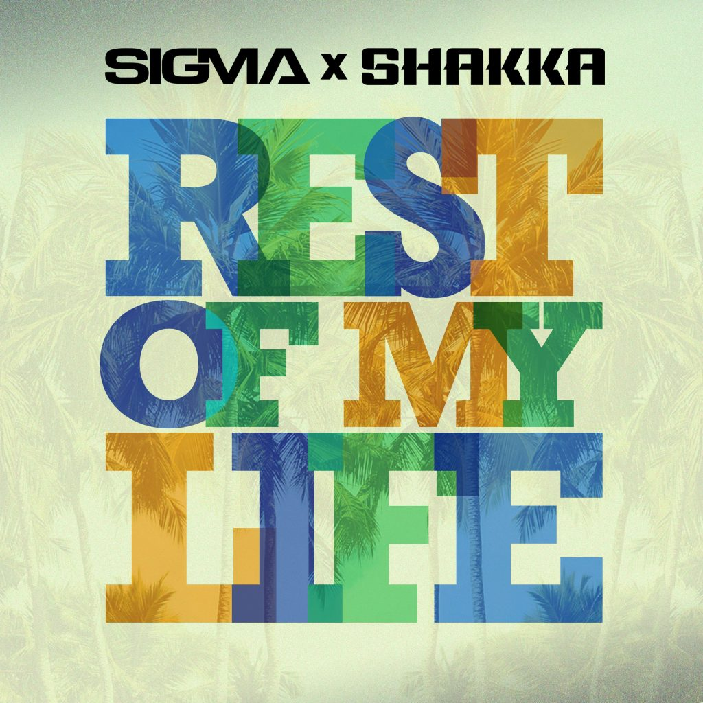 'Rest of my life' in blue, yellow and green with white background