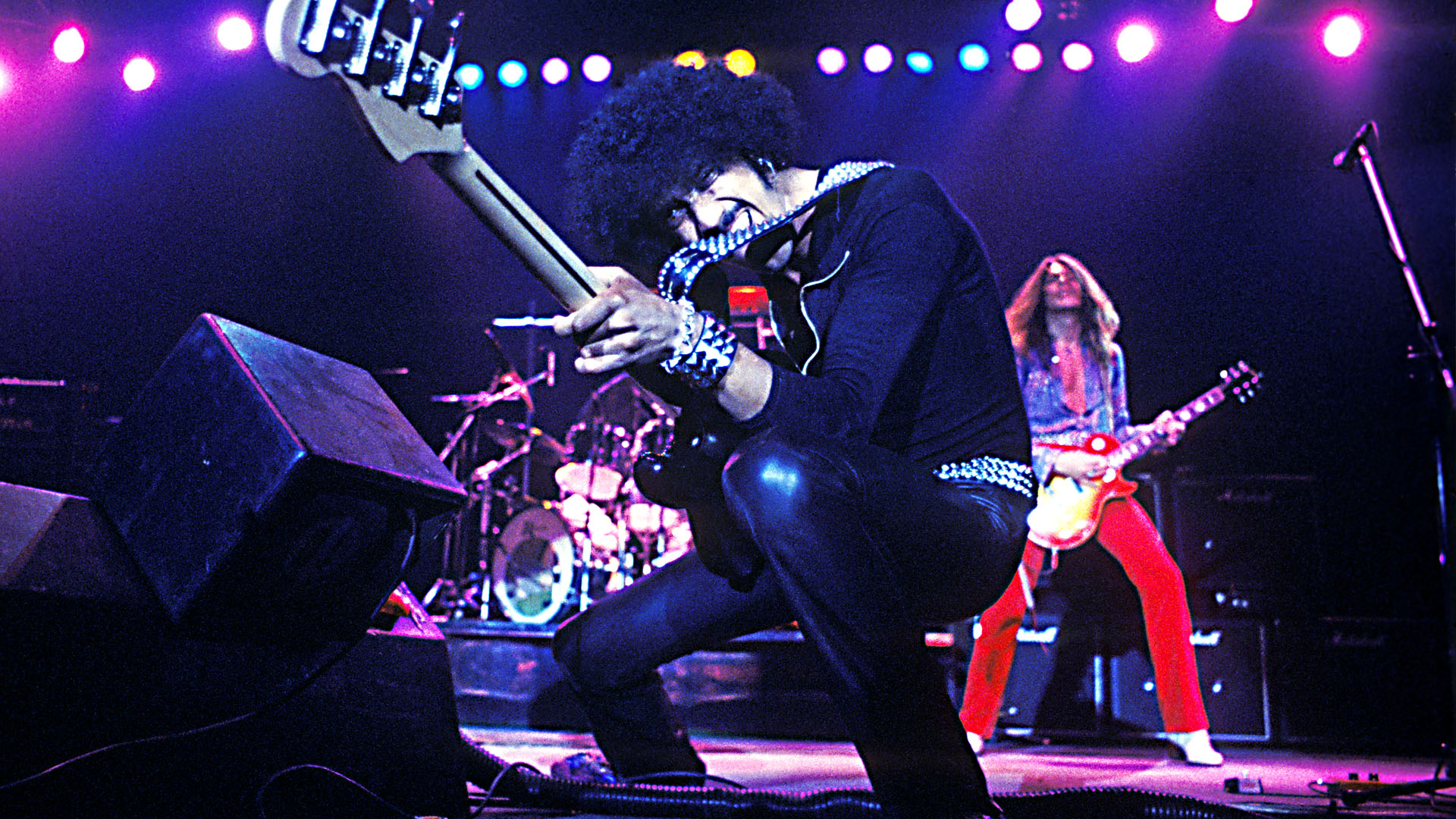 Phil Lynott performing live