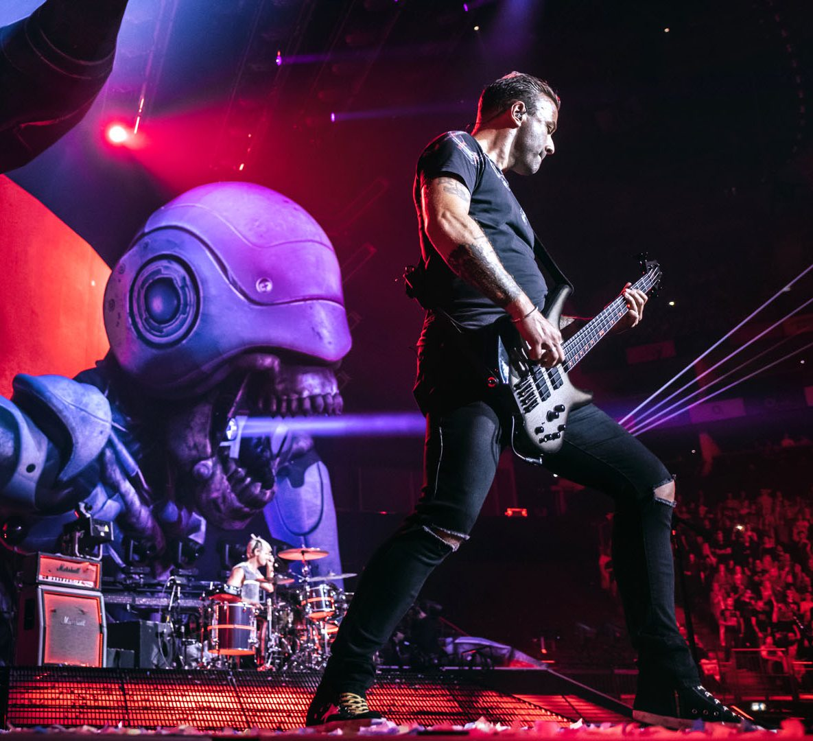 Muse performing live